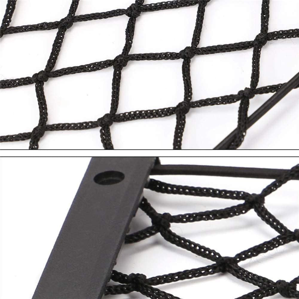 LQKYWNA Large Storage Net Elastic Mesh Rack Vehicle Chair Back Multi-Functional Utensil String Bag For Car Caravan Motorhome Marine Boat