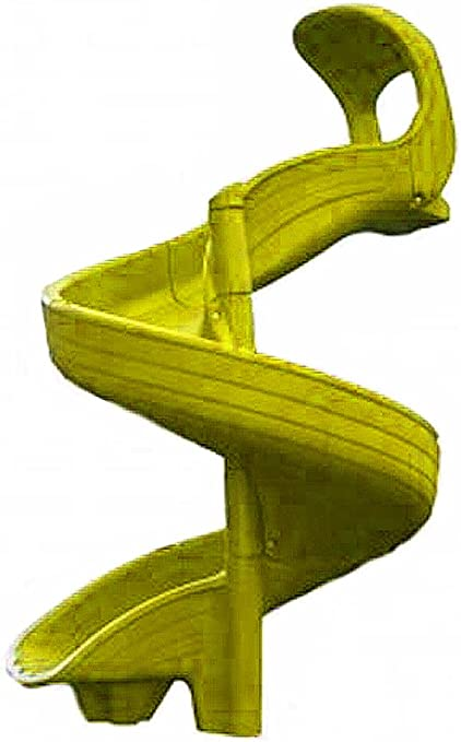 DunRite Playgrounds Twisty Slide for 6 Foot Deck Height Yellow