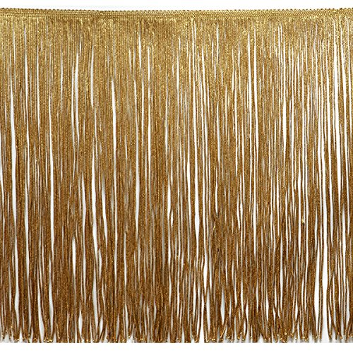 Expo International 20-Yard Chainette Fringe Trim, 12-Inch, Gold by Expo International Inc.