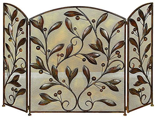 leaf design fireplace screens - 4