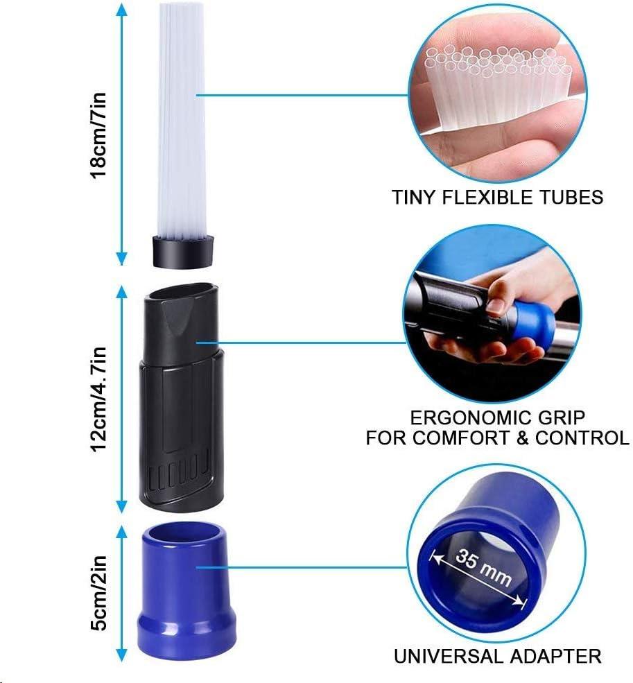 Dusty Brush Cleaner Dust Spazzola Duster Strumenti di Pulizia per Tastiera//Cassetti//Auto//Artigianato AMEU Spazzola Testina Universale per Aspirapolvere