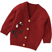 Infant Baby Boys Girls Fall Winter Knit Cardigan Jacket V-Neck Stitching Color Sweater for Toddler Newborn Unisex Babies