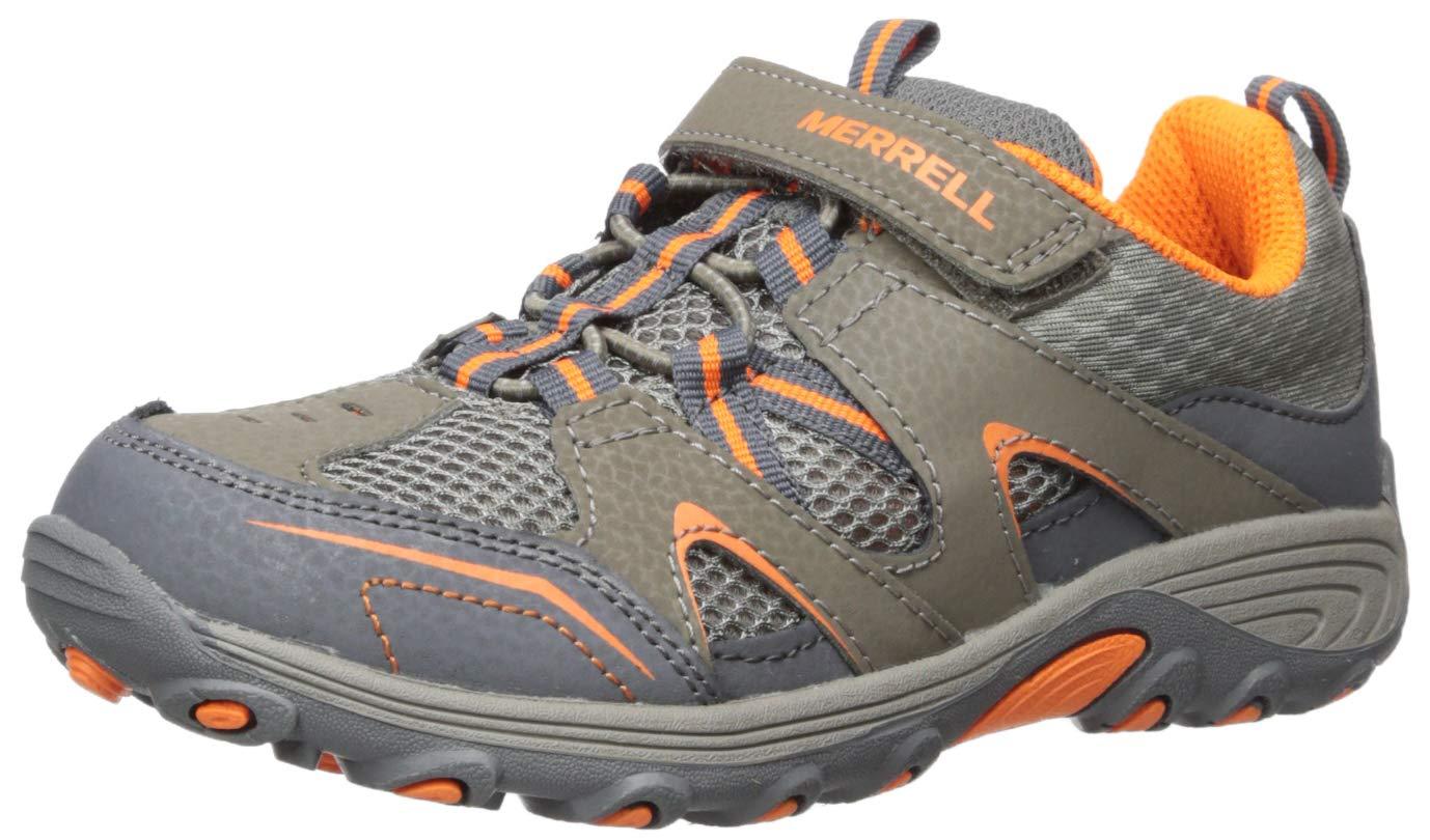 Merrell Boys' Trail Chaser Sneaker Gunsmoke/Orange 010 Wide US Little Kid