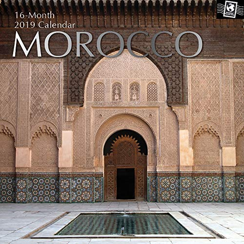 2019 Wall Calendar - Morocco Calendar, 12 x 12 Inch Monthly View, 16-Month, Travel and Destination Theme, Includes 180 Reminder ()