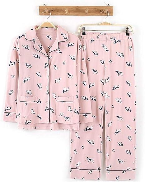 DHLFHRTISH Pijama Pantalones de algodón Puro de 10 Colores con ...