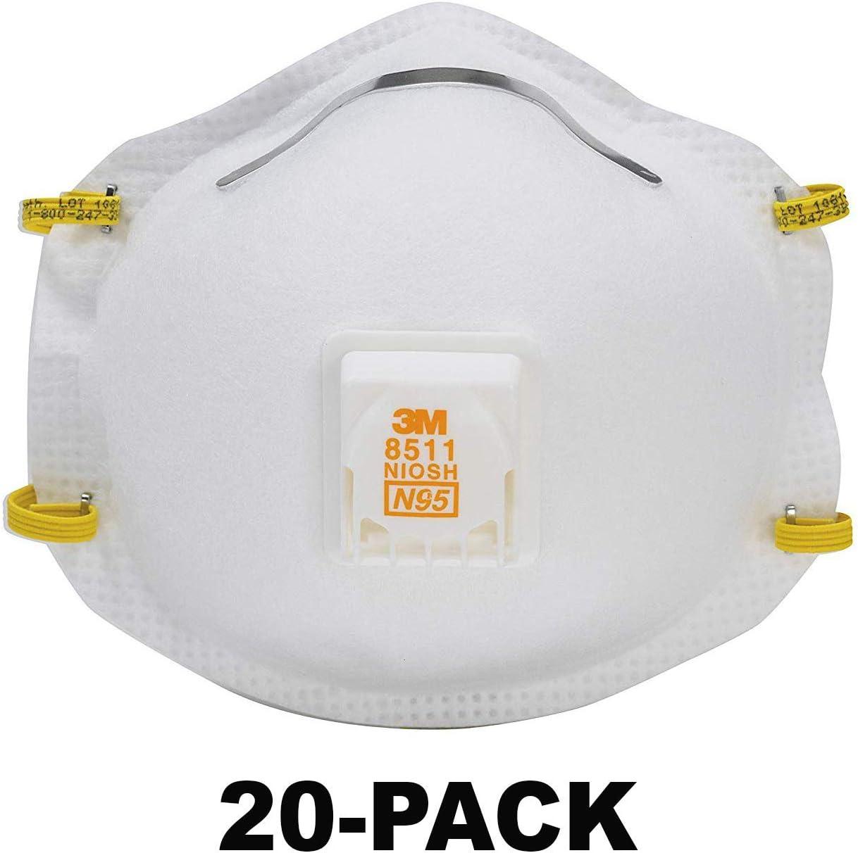 3m 8511 n95 respirator mask - 10 pack
