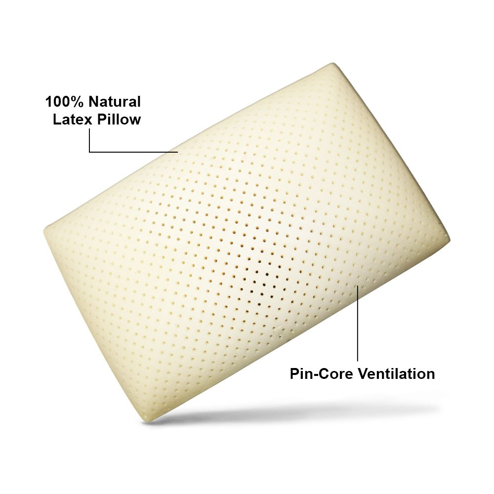 classic black by low profile talalay bliss pure latex high product pillow