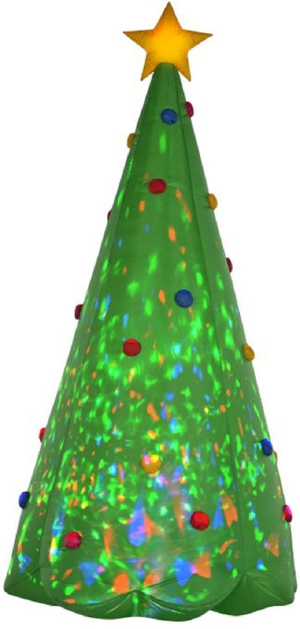 Gemmy 89776 Green Tree Christmas Inflatable, 8 FEET TALL