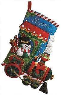 Amazon bucilla 18 inch christmas stocking felt applique kit bucilla 18 inch christmas stocking felt applique kit 86147 candy express solutioingenieria Images