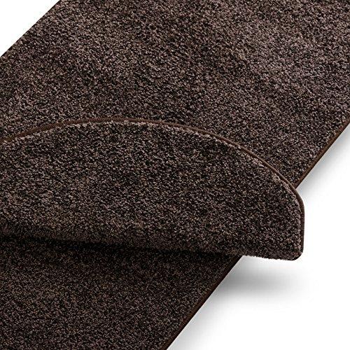 Teppich Läufer uni nougat | Qualitätsprodukt aus Deutschland | GUT Siegel | kombinierbar mit Stufenmatten | 19 Breiten und 18 Längen (50 x 100cm)