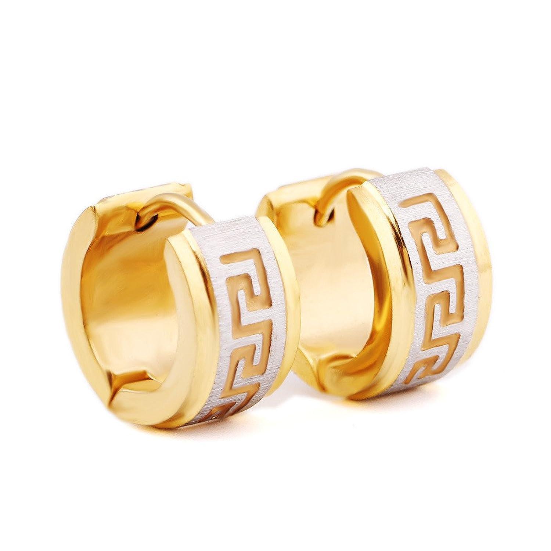fa3c5ded5eb4 Venta caliente 2018 Dana Carrie Elegantes aretes de acero titanio negro  Elegantes aretes de oro oído