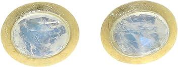 Ohrringe, Ohrstecker mit facettiertem weißen Labradorit bzw. Regenbogenmondstein