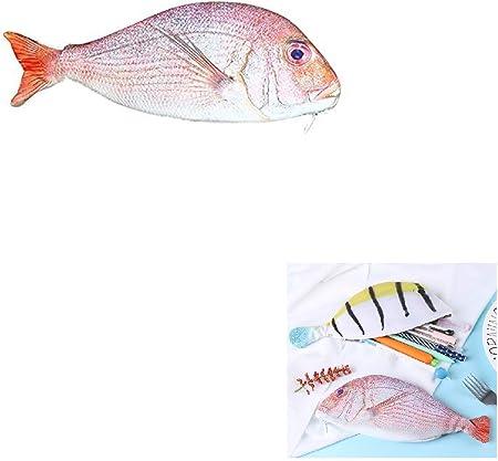 Estuche para lápices con forma de pez, portatodo escolar original.: Amazon.es: Hogar