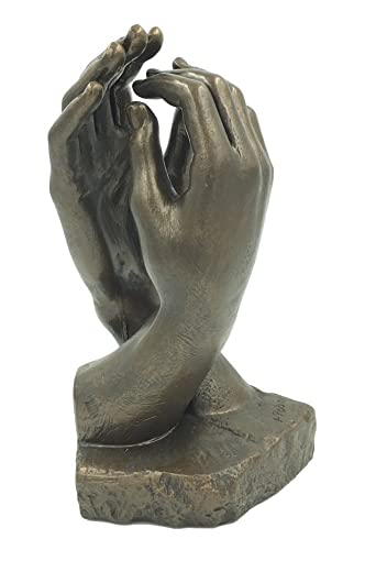 Parastone Rodin Cathedral Clasping Hands Statue Museum Replica 10 in H