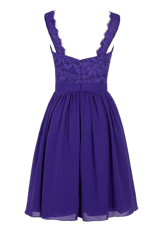 Angel Formal Dresses Women\'s V Neck Lace Dress Bridesmaids Dress ...