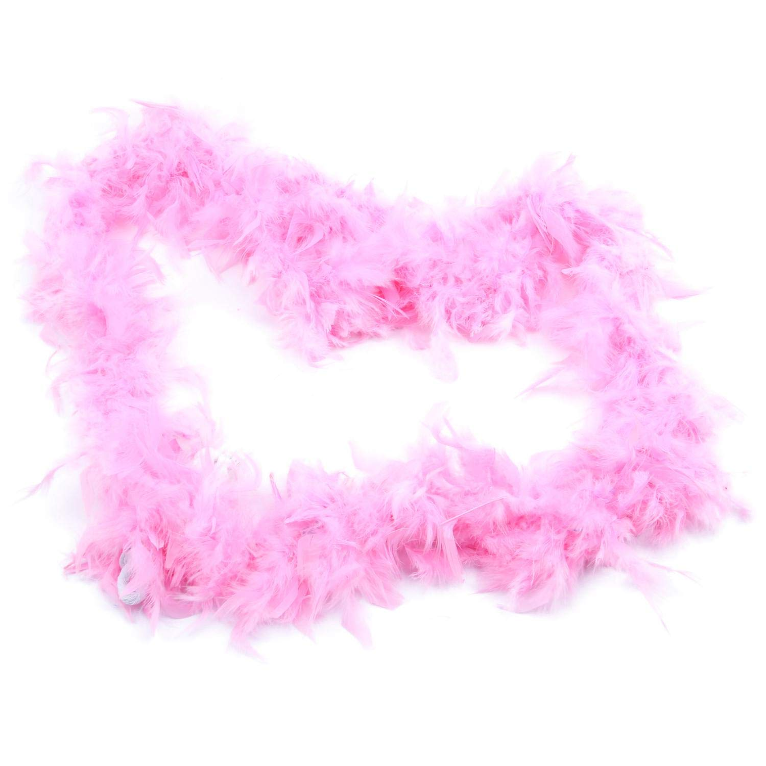 WHITE MARABOU FEATHER BOA 2MTR Accessory for Flapper Molls Chorus Fancy Dress Party