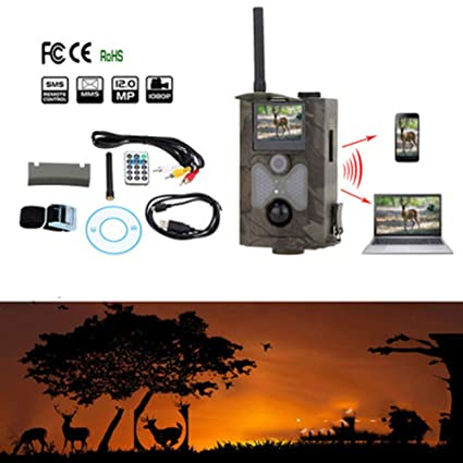 TYXHZL Hunting Camera HD Automatic Wide Angle Infrared Thermal Wild Waterproof Sensor Wildlife Trail