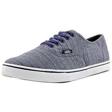 258842cc7d Vans Unisex Authentic Lo Pro Woven Chambray Sneakers Blue M6.5 W8 ...