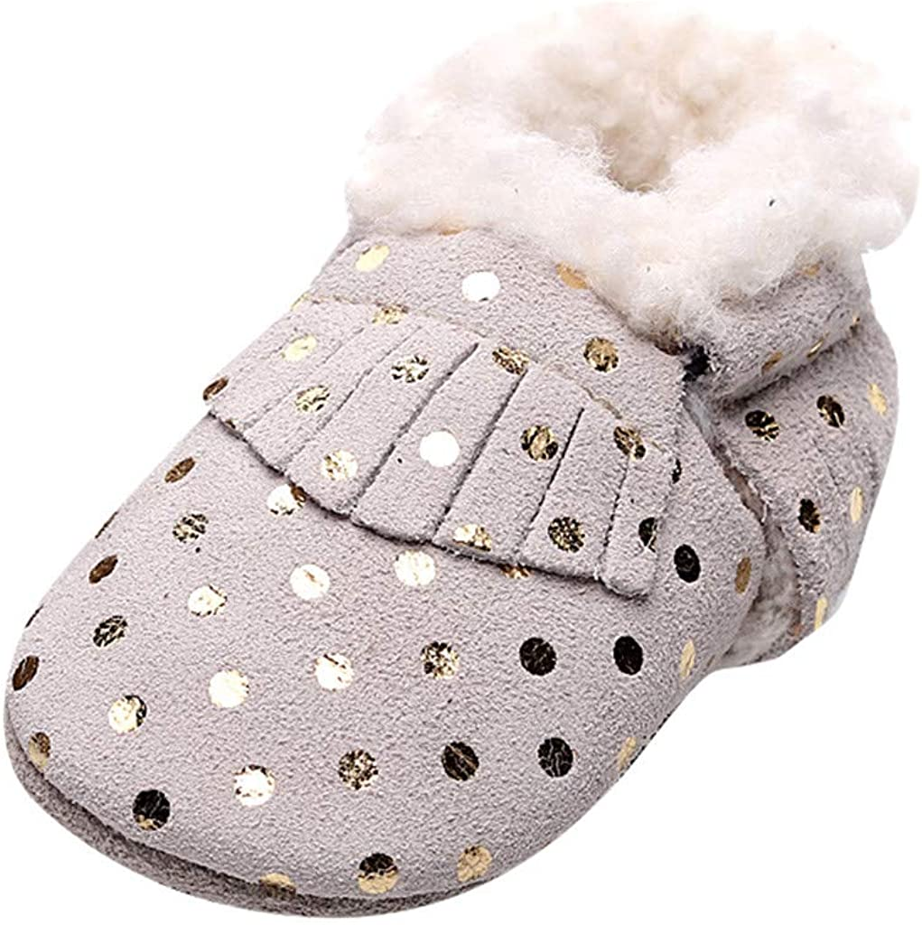 Newborn Infant Baby Boys Girls Winter Walking Shoes Warm Prewalker Shoes Cartoon Booties Shoes 3-18 Months