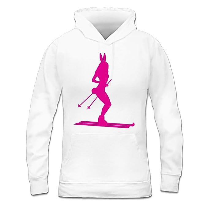 Sudadera con capucha de mujer Ski Bunny Silhouette by Shirtcity: Amazon.es: Ropa y accesorios