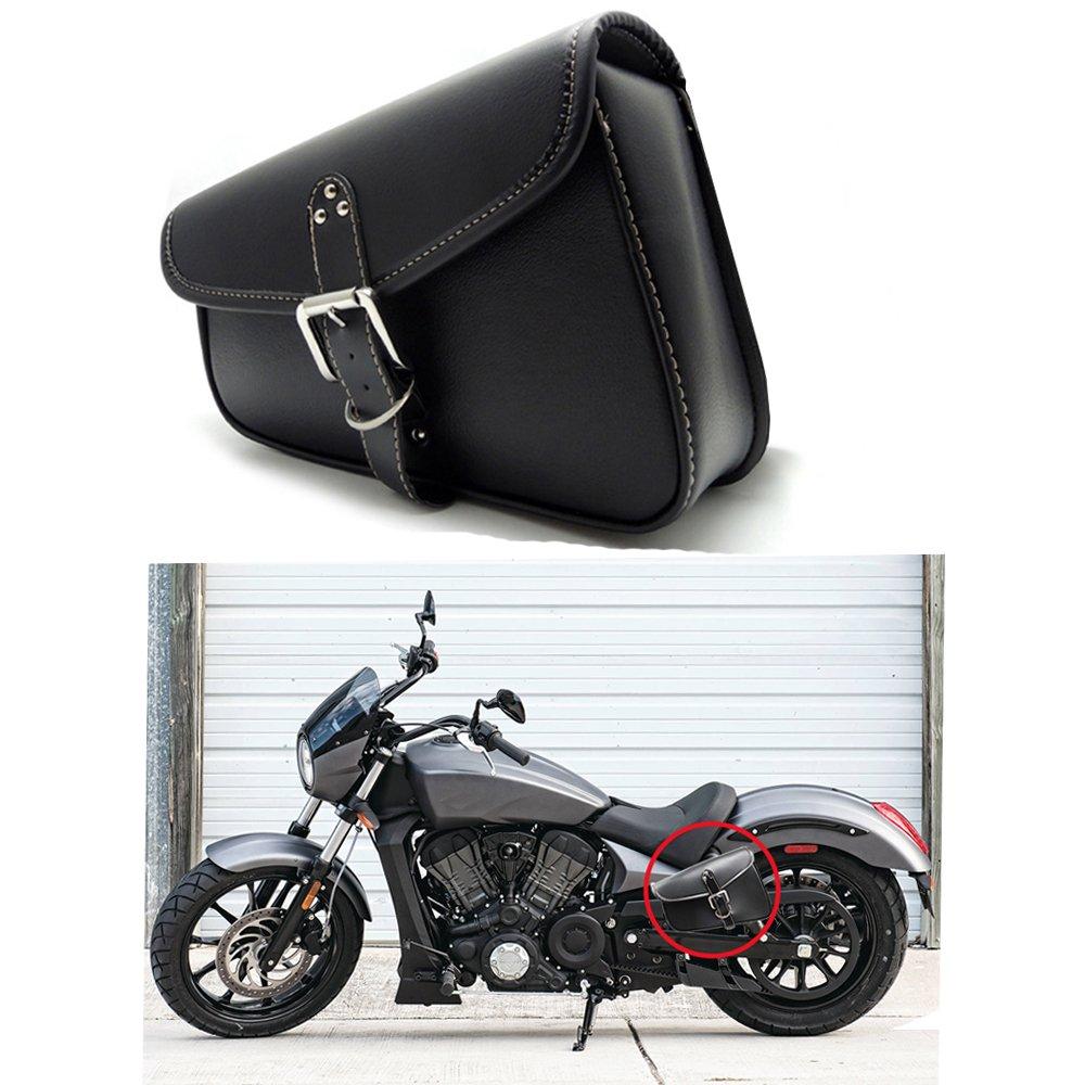 1 St/ück Motorrad Satteltaschen Leder PU Wasserdichte Links Satteltasche Motorrad Side Gep/äck Werkzeugtasche Schwarz