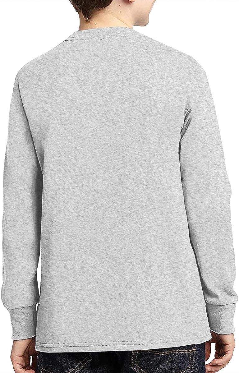 Phantom of The Opera Rose Teens Long Sleeve Cotton T-Shirt Youth Crew Neck Casual Boys Top