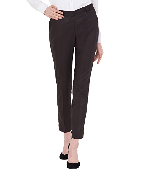 a86e58cc4f American-Elm Women s Light Brown Cotton Slim Fit Stretchable Office Trouser   Amazon.in  Clothing   Accessories