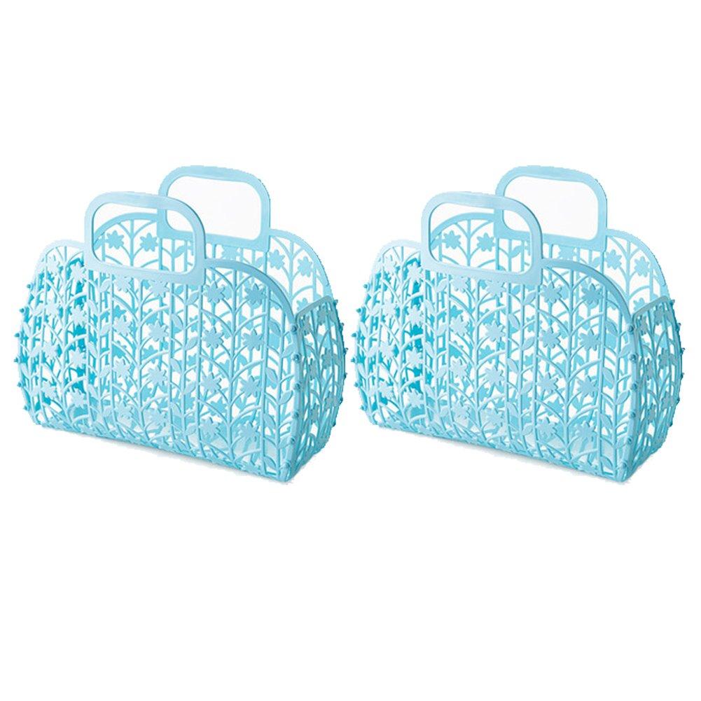 Ibnotuiy 2Pcs Plastic Hollow Sundries Foldable Shower Caddy Portable ...