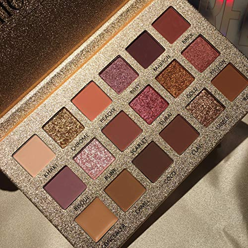 New 18 Colors Long Lasting Perfect Mix Matte And Pearl Eyeshadow Palette Collection (18 Color Gold)