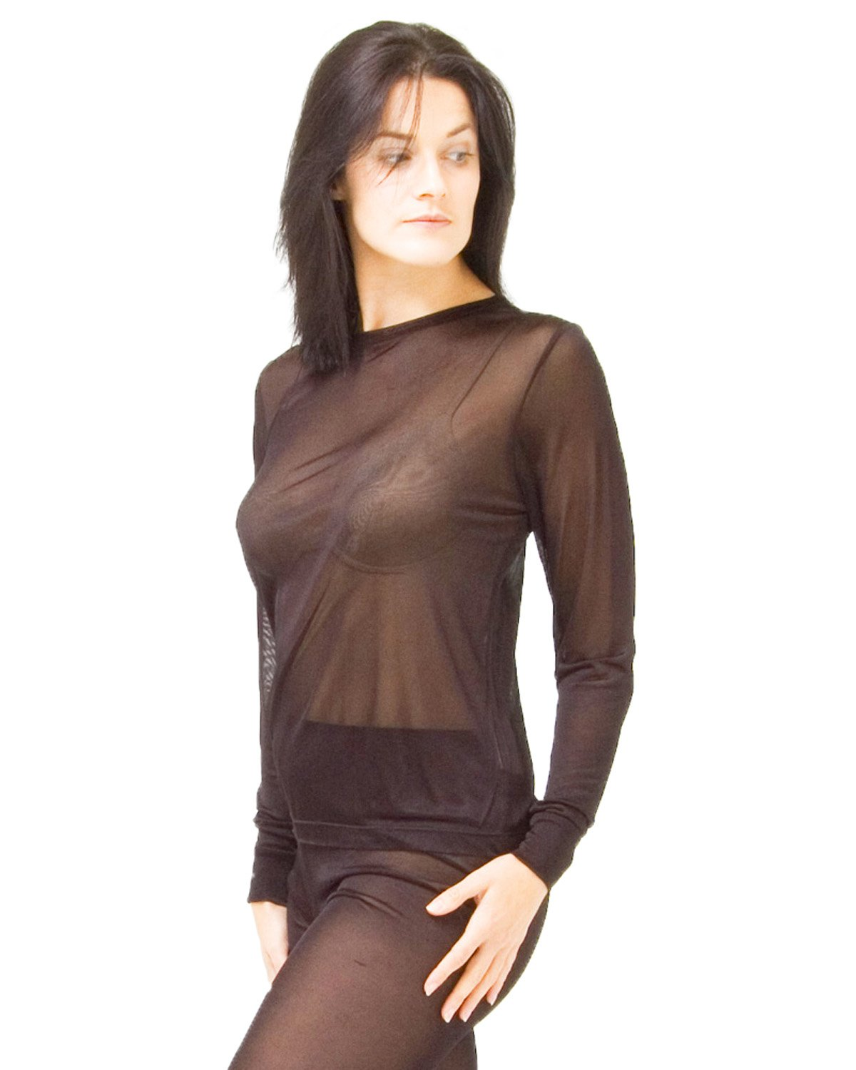 Thermal long sleeve vest-set of 2 - size: XL - colour: black Pack of: 2