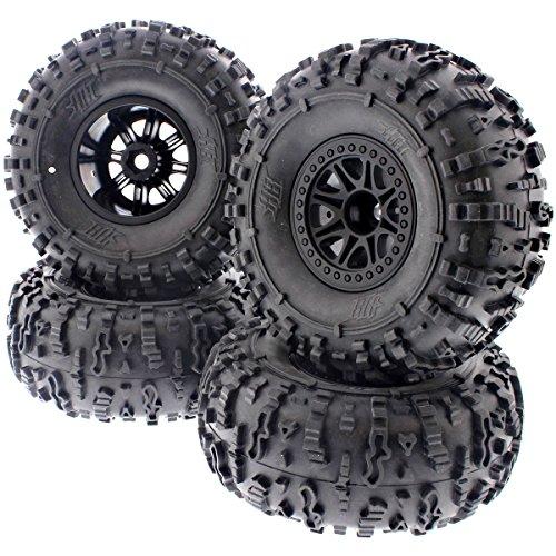 HPI 1/10 Crawler King * 4 HB ROVER ROCK CRAWLER TIRES & SPLIT 8 TRUCK WHEELS *