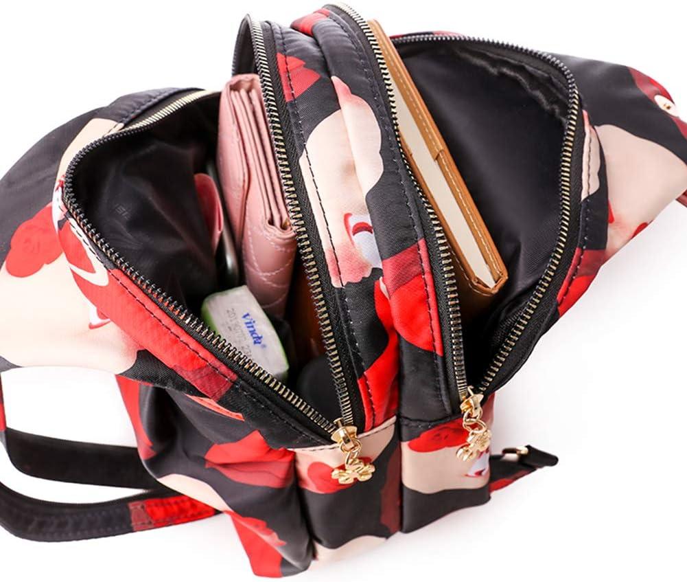 Galmaxs7 Sling Bag Multipurpose Crossbody Shoulder Bag Chest Bag Outdoor Cycling Travel Hiking Daypack for Men Women Lady Girl Teens Casual Daypack Fashion Print Rope Bag Backpack