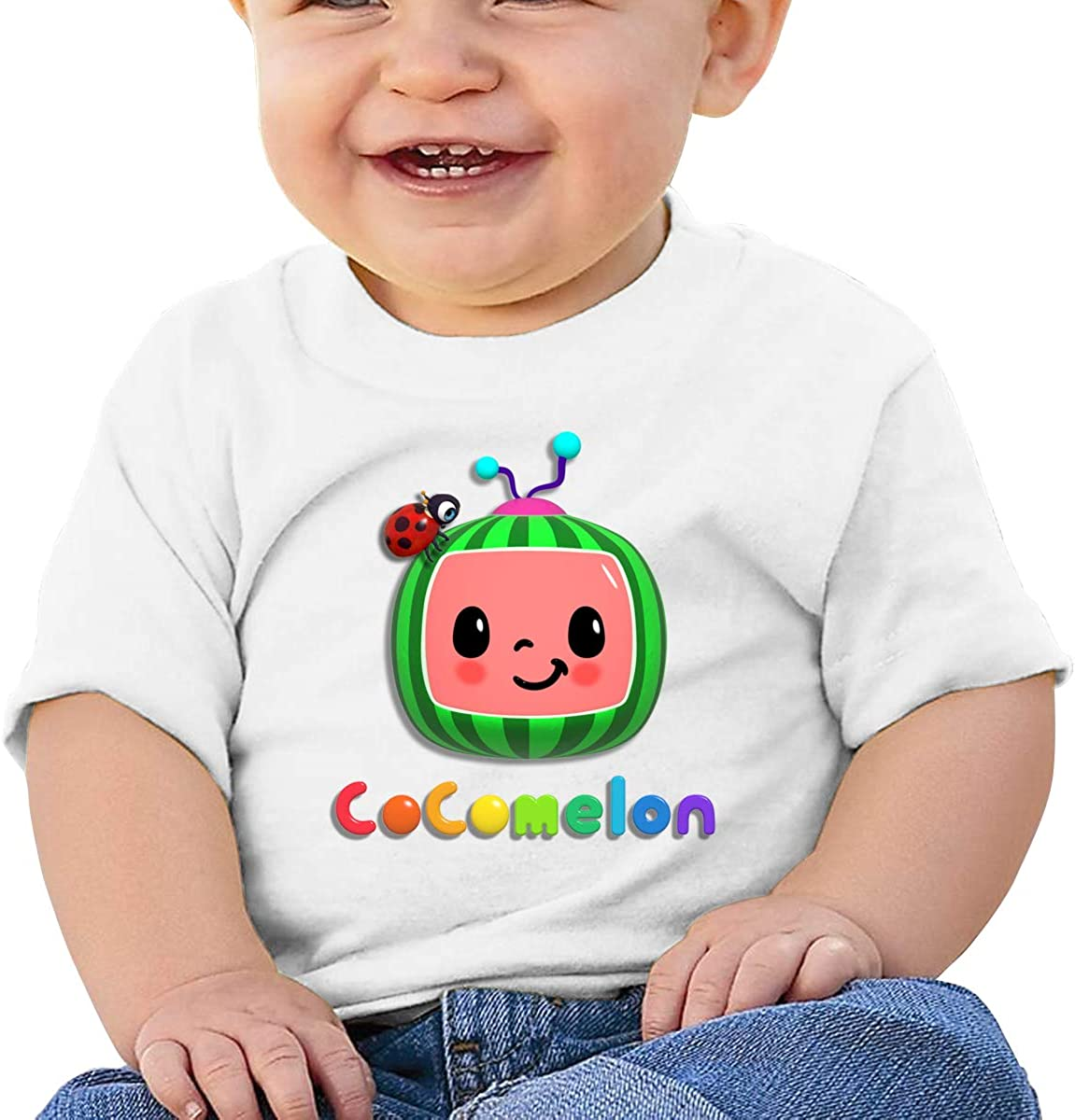 AP.Room Infant Cotton Cocomelon Jersey Short Sleeves Tee Personality Baby Boys T-Shirts White