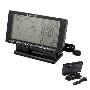 alftek Auto Doble Función de Digital de manecillas de indicadores de Digital de Auto de brújula con termómetro y calendario reloj: Amazon.es: Deportes y ...