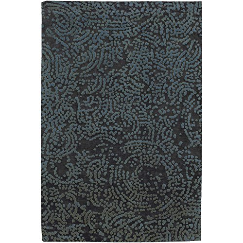Julie Cohn by Surya Shibui SH-7413 Contemporary Hand Knotted 100% Semi-Worsted New Zealand Wool Espresso 2' x 3' Abstract Accent - Shibui Rug Hand Knotted