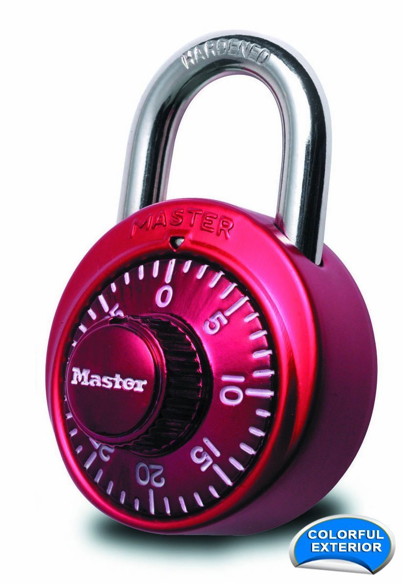 Master Lock 1530DCM X-treme Combination Lock, Colors Vary, 3-Pack