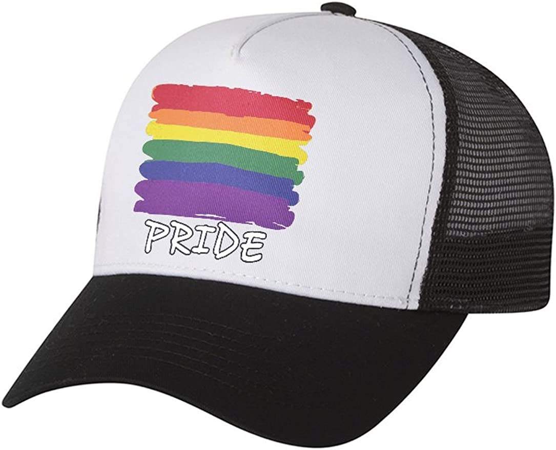 Pride Rainbow USA Flag Hat Gay /& Lesbian Parade Flag Trucker Hat Mesh Cap