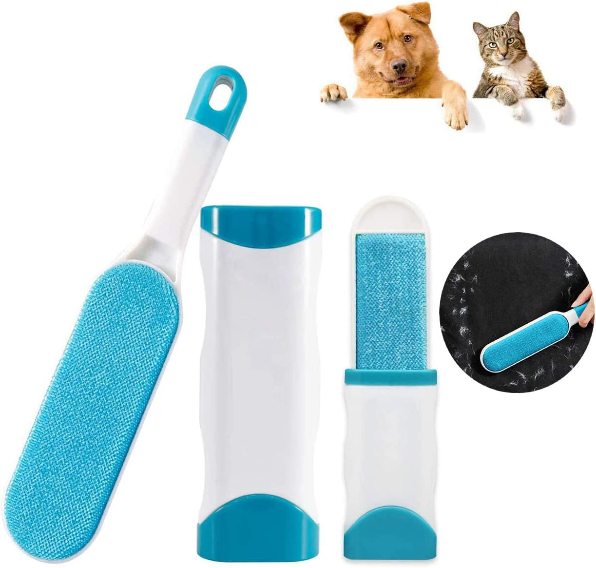 Portable Hair Remover JZH,Dog Hair Removal for Furniture, Hair Removal Brush,Clothes Removal Brush No Refills and No Waste Pet Hair Quick epilator Upgraded Reusable Pet Hair Remover Brush-1 Pack