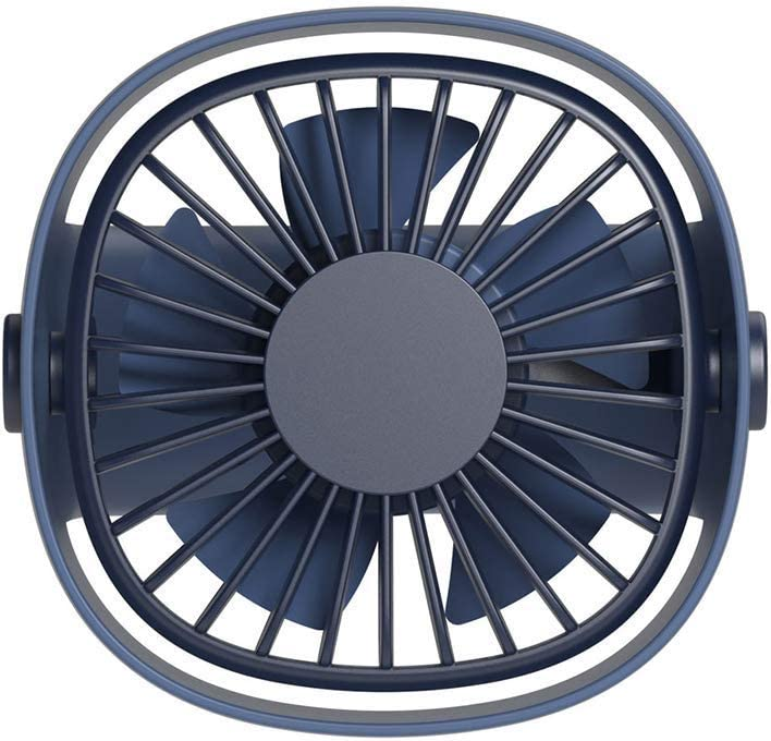 Lcxligang LS Portable Mini USB Rechargeable Cooling Fan Home Office Travel Air Cooler Blower Color : Blue