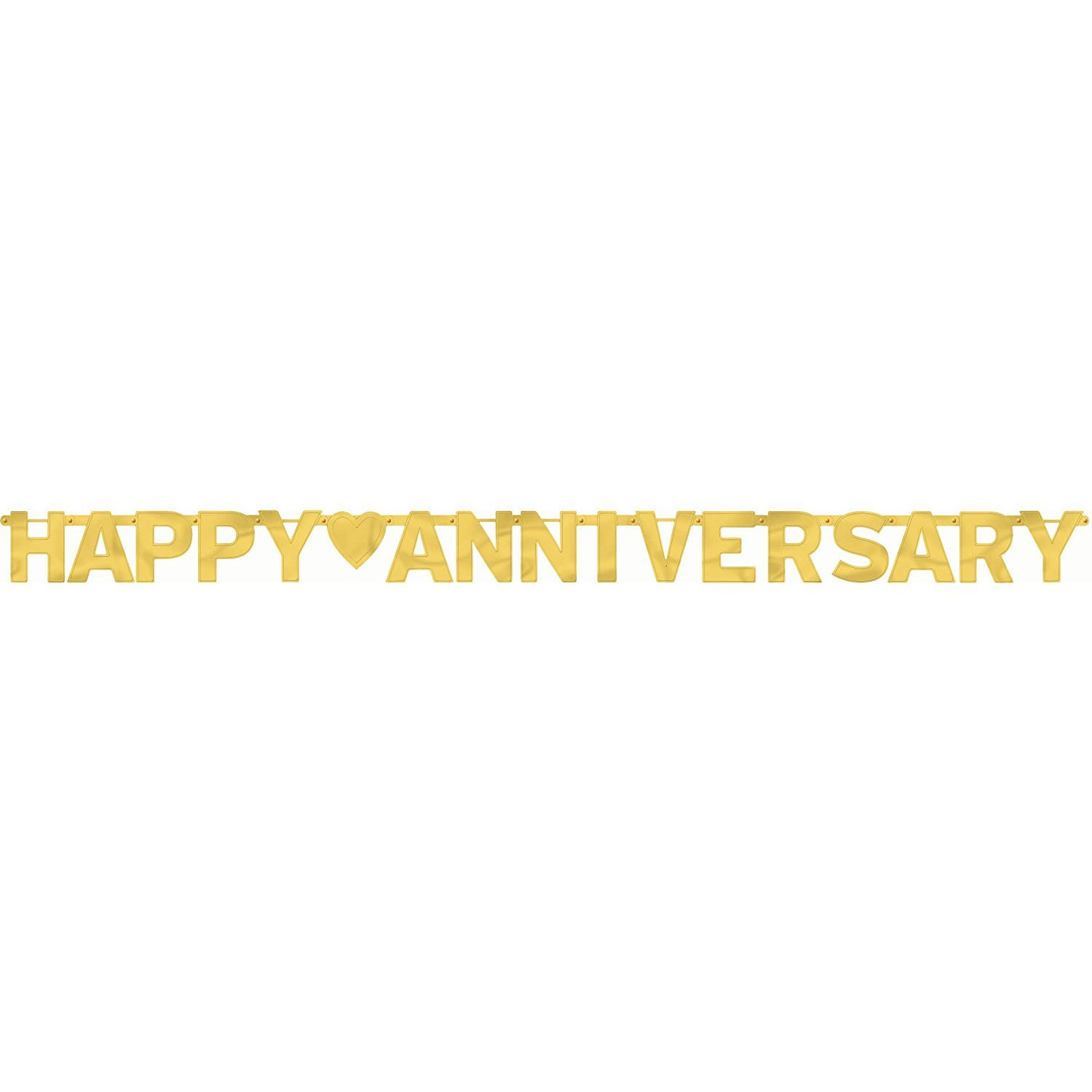 Amscan International Happy Anniversary Banner Large Letter Gold 122592.19