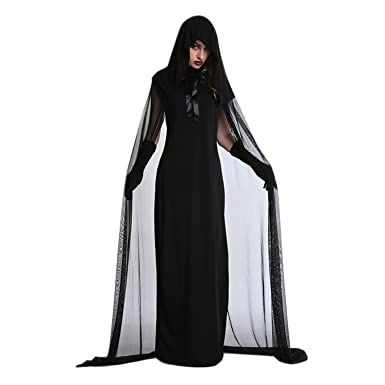 Amazon.com  Evelin LEE Women Scary Halloween Costume Vampire Ghost Zombie  Dress Hooded Cloak Outfits  Clothing 64da90f91