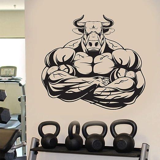 Gym Bull Barbell Fitness Etiqueta de la Pared Vinilo ...