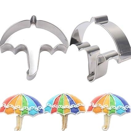 Moppi De acero inoxidable forma de paraguas galletas de la galleta cortador de la torta del