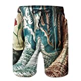 Ableelba Men Country Boots Fashion Beach Pant Tide Stamp Shorts