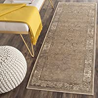 Safavieh Vintage Premium Collection VTG117-1662 Transitional Oriental Taupe Distressed Silky Viscose Runner (22 x 8)