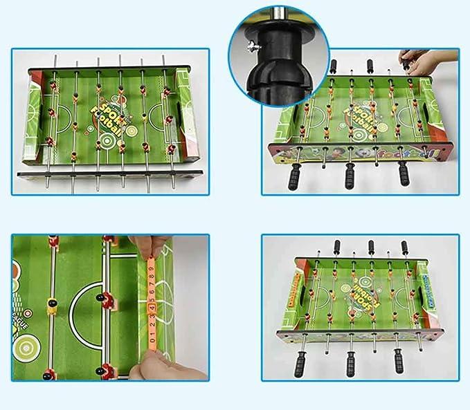 ZHJIUXING ZQ Portátil Futbolín futbolín fútbol Juego de Mesa ...