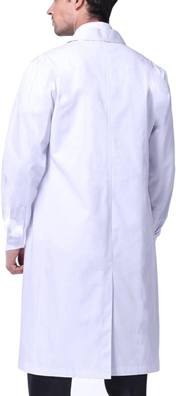 Technici Docteur Manteau Abollria Blouse Blanche Blouse Blanche Chimie Laboratoire Blouse de M/édecin Femme Homme pour /Étudiant et Lyc/éen Pigment