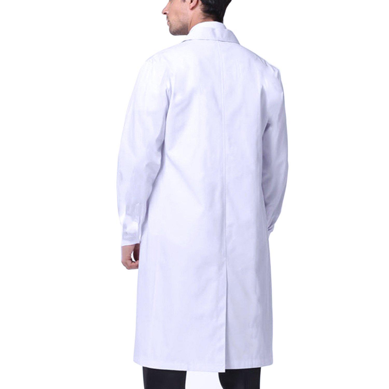 Sasairy Unisex Bata Médico Manga Larga Bata de Laboratorio Enfermera Sanitaria de Trabajo para Médicos Científico: Amazon.es: Ropa y accesorios