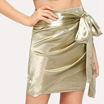 XSY Mujeres Verano Falda Lápiz Corto Harajuku Faldas de Cintura ...