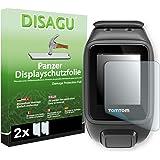 2 x DISAGU Pellicola alta protezione del display per TomTom Runner 2 Cardio antirottura